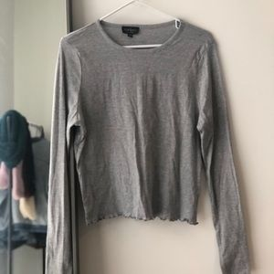 Long sleeve gray shirt from Topshop